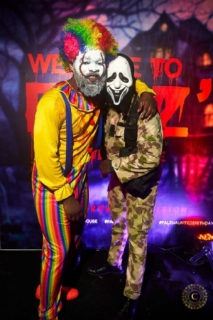 More Scary Photos From Falz's Haunted-House Themed 29th Birthday Party. People Masked